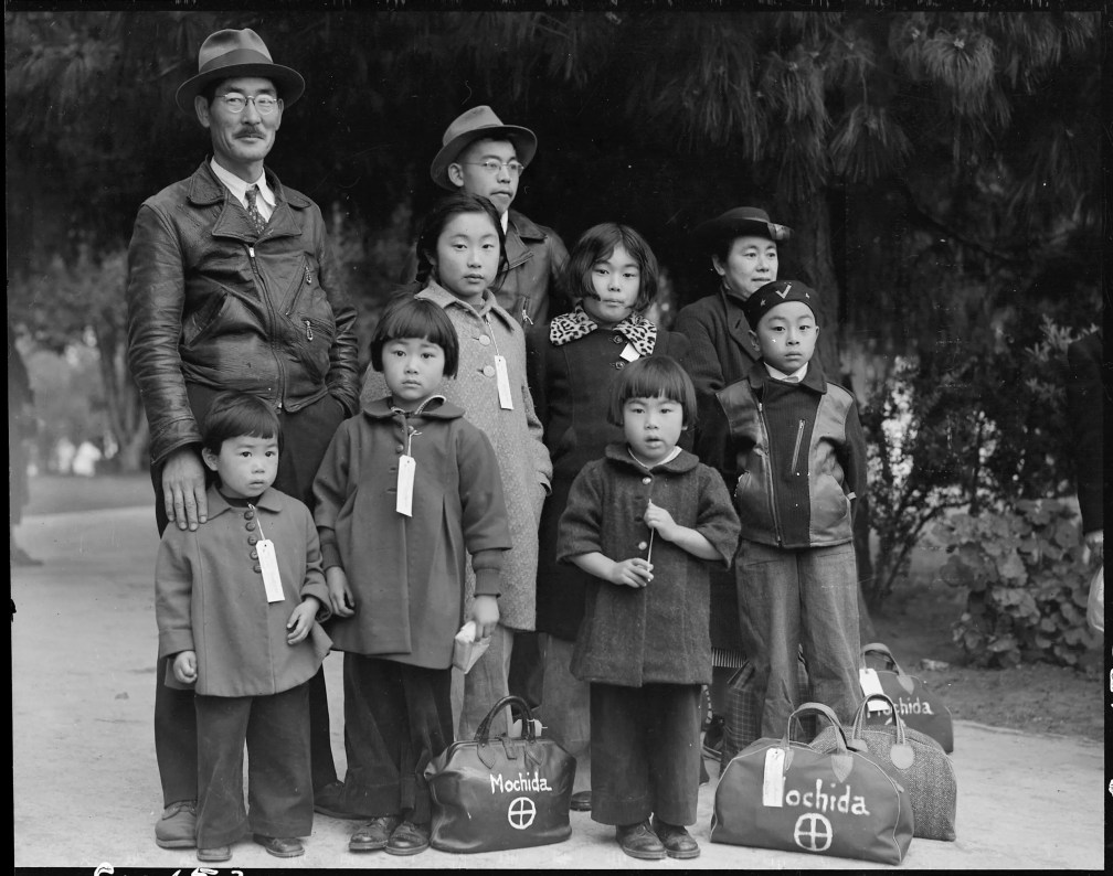The Mochida family awaiting evacuation