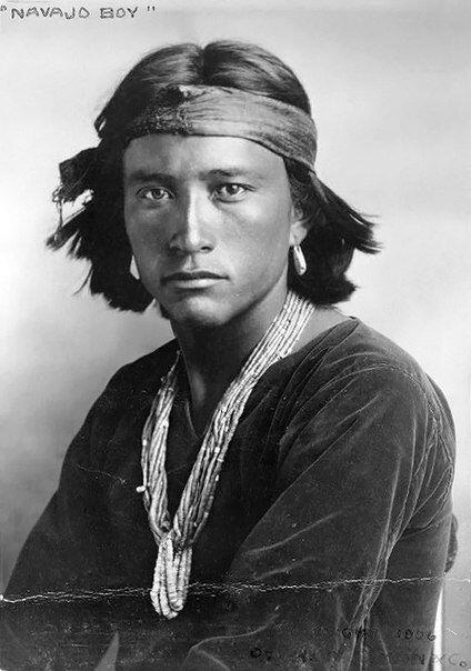Portrait of a Navajo Native American, 1906.