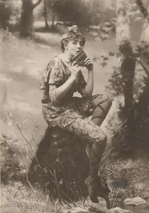actress Maude Adams as Peter Pan