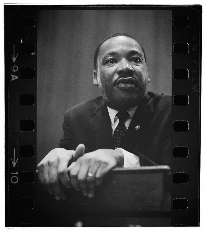 "Martin Luther King Jr portrait and quote: ""No matter where you stand, no matter how much popularity you have, no matter how much education you have..."