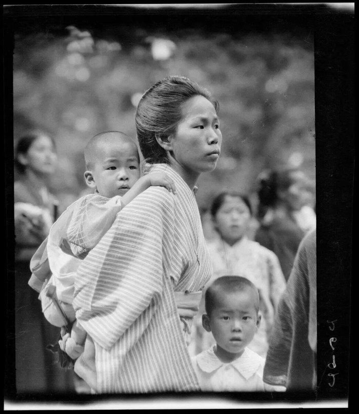 Portrait of a woman & baby, Japan, circa 1925.