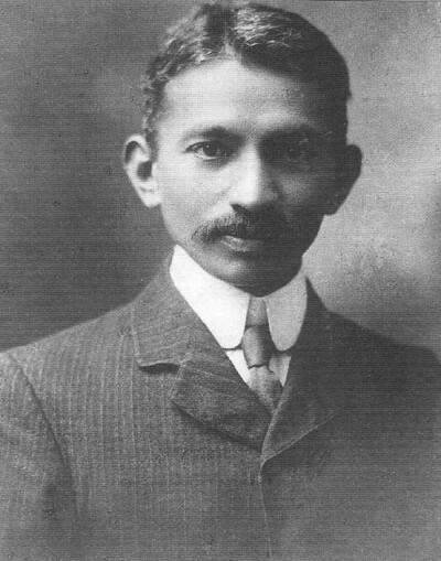 Mahatma Gandhi, 1909.