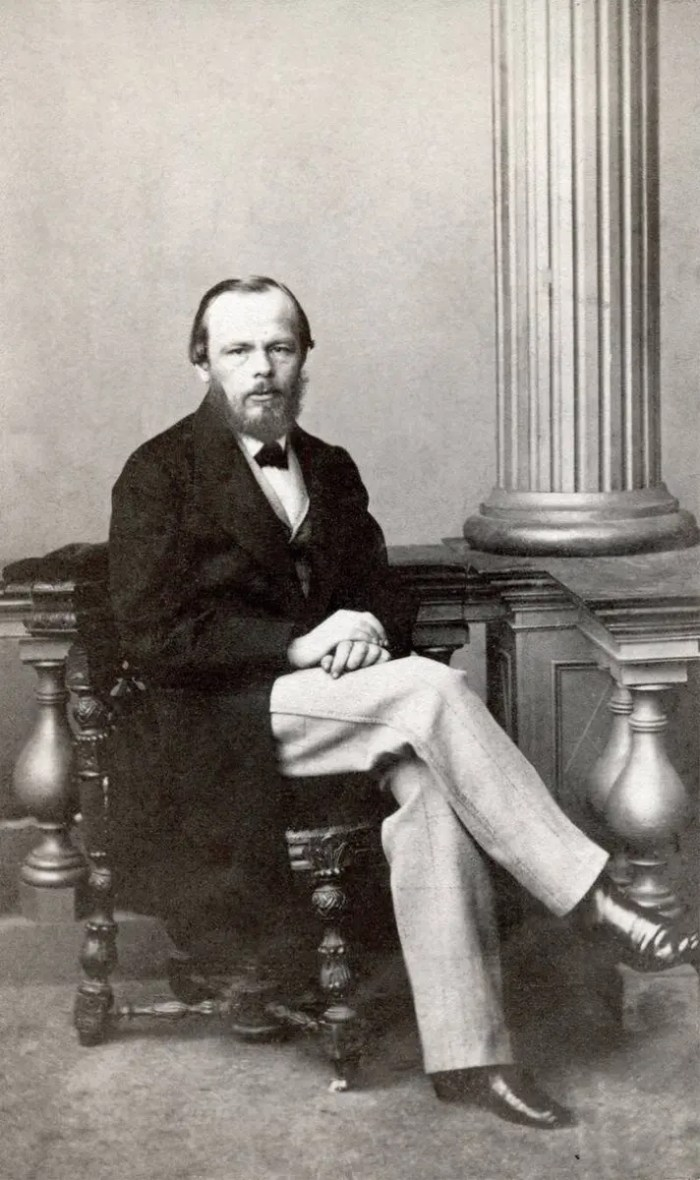 Portrait of Fyodor Dostoevsky for quote
