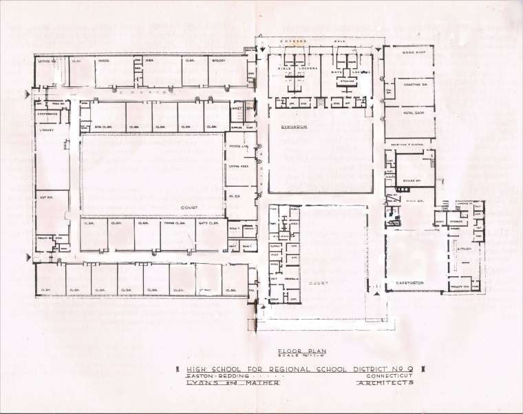Easton HSE S43 Redding Barlow floor plan 1960
