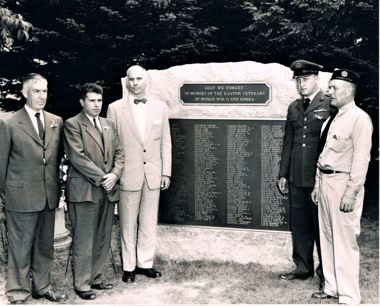 Easton HSE Dedication WWII Korea