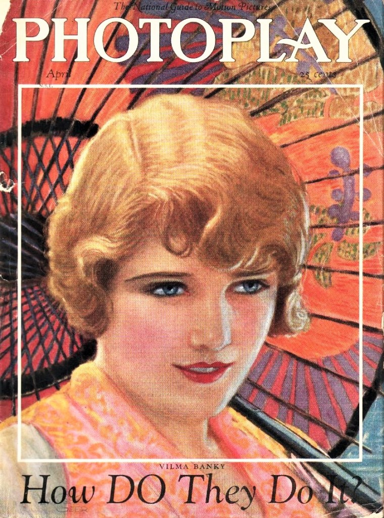 Livingston Geer artist's 1926 Photoplay cover