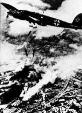 Luftwaffe bombing Warsaw.
