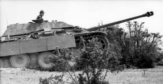 Jagdpanther in Northern France.