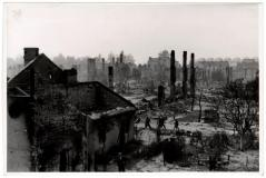 Warsaw after German warplanes attacked the city in 1939.