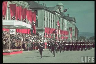 SS parades on Reichs Veterans Day at Kassel, Germany, June 4, 1939.