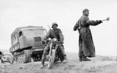 A Raupenschlepper Ost, designed in response to the poor roads of Russia, moves material up shortly before the Kursk offensive.