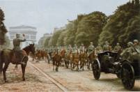 Victory parade of the Wehrmacht in Paris.