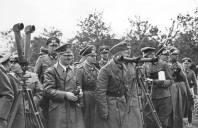 Hitler, Rommel, von Rundstedt, and other high ranking generals watching the invasion of Poland, 1939.
