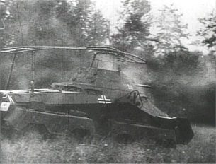 German Sd.Kfz 232 (8-Rad) in the Ardennes during the Battle of France (May 1940).