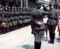Soldiers of the Wehrmacht in Paris, France.