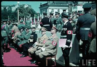 Reichs Veterans Day at Kassel, Germany, 4 June 1939. From right to left : Gauleiter Karl Weinrich, Adolf Hitler, Erich Raeder, and Walther von Brauchitsch.