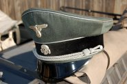 A German made Erel SS General's Cap with just a hint of age. Order Catalog for http://soldat.com/ or Soldat FHQ on Facebook.
