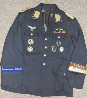 A Luftwaffe officer's uniform. Order Catalog for http://soldat.com/ or Soldat FHQ on Facebook.