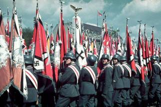 Rally and military parade in celebration of Adolf Hitler's 50th birthday, Berlin, April 20, 1939.