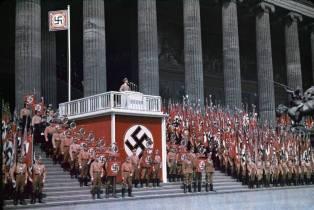 Reich Minister of Propaganda Joseph Goebbels speaking at the Lustgarten in Berlin, 1938.