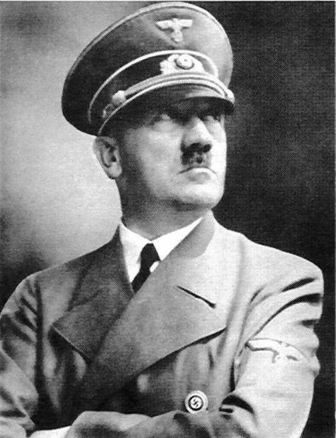 Adolf Hitler, leader of Nazi Germany.