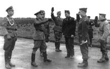 Negotiations on a prisoner exchange of a 55-man combat patrol from the US 94th Infantry Division was captured by the Germans near Lorient, France in the Fall of 1944.