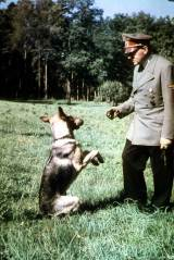 Hitler and Blondi.