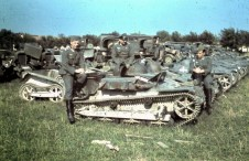 The always popular photo, 'posing with captured war material', in this case French tractors and trucks, summer 1940.