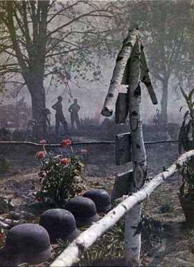 German graves at Stalingrad.