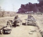 German panzers on a Russian road.
