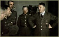 From left to right : Adolf Heusinger, Friedrich Paulus, Georg von Sodenstern, and Adolf Hitler.