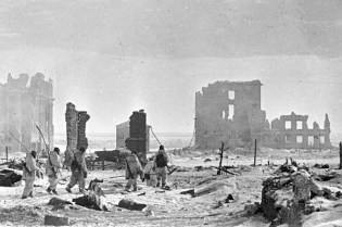 The center of Stalingrad after liberation.