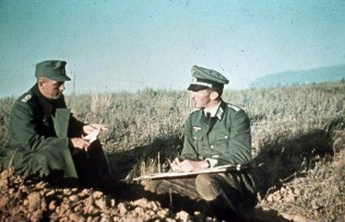 Small Briefing of German Officers Before Stalingrad, 1942.