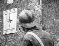 French soldier in the German village of Lauterbach in Saarland.