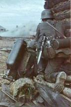 German Flammenwerfer 35 plameňometom on the Eastern Front, 1941.