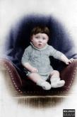 Adolf Hitler as an infant (c. 1889–1890).