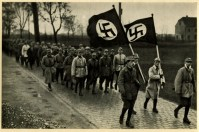 Germany Awakes. Group #32. Picture #11: Exercise of the SA outside of Munich, 1923.