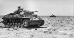 El Alamein 1942: Destroyed Panzer IIIs near Tel el Eisa.