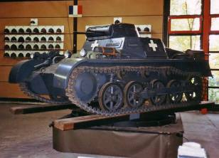 Panzer I, Mark A on a turntable.