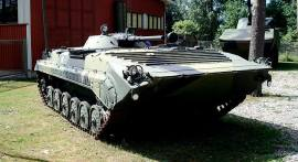 BMP-1, on display at the museum.