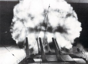 Scharnhorst firing.