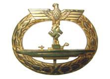 U-Boat War Badge from World War II.