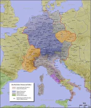 Otto 1 Holy Roman Empire boundaries.