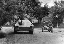 "Panzerjäger ""Hetzer"" from 8th SS Division Hungary 1944."
