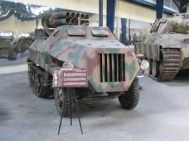 15 cm Panzerwerfer auf Sf (Sd.Kfz. 4/1) at the Saumur Tank Museum.