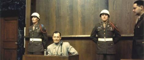 Göring at the Nuremberg Trials.
