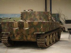 Rear End of the Tiger 1 at the Musée des Blindés - Tank Museum - France.