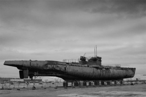 U-534, Birkenhead Docks, Merseyside, England after is was brought up from the bottom then it was turned into a museum.