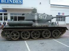 Russian T 34 at the Musée des Blindés - Tank Museum - France.
