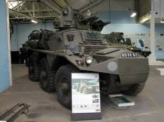 British Alvis Saracen armoured car at the The Bovington Tank Museum - England.